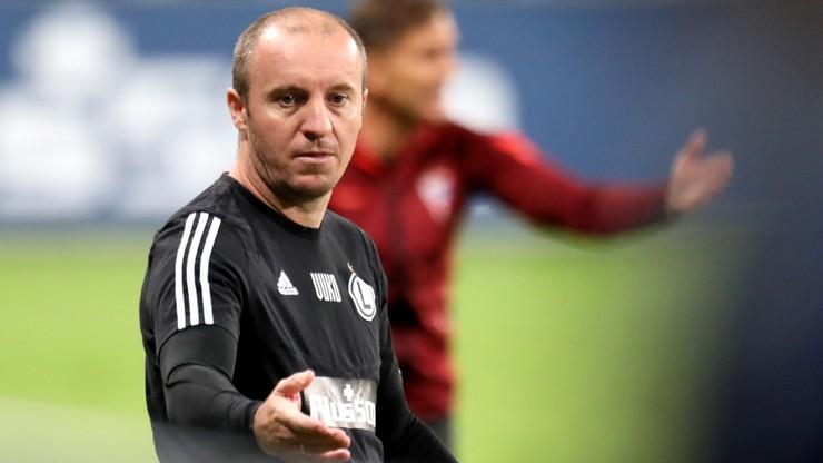 """Legia bez trenera. Vuković """"przestał pełnić obowiązki"""""""
