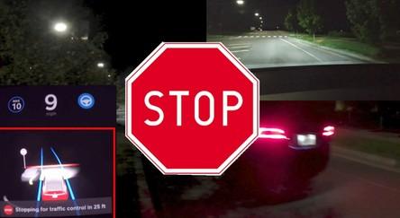 Naukowcy oszukali Autopilota i zmusili Teslę do awaryjnego hamowania [FILM]