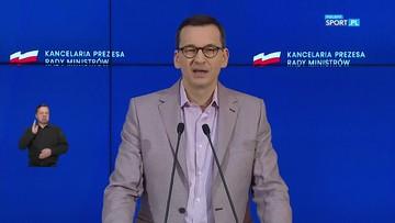"Premier Morawiecki o ""odmrażaniu sportu"""