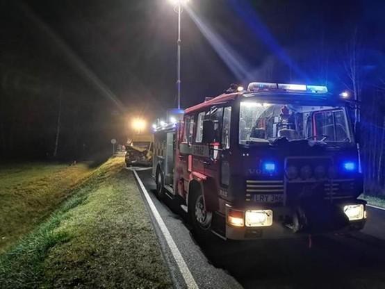 Kierowca samochodu dostawczego nie odniósł obrażeń
