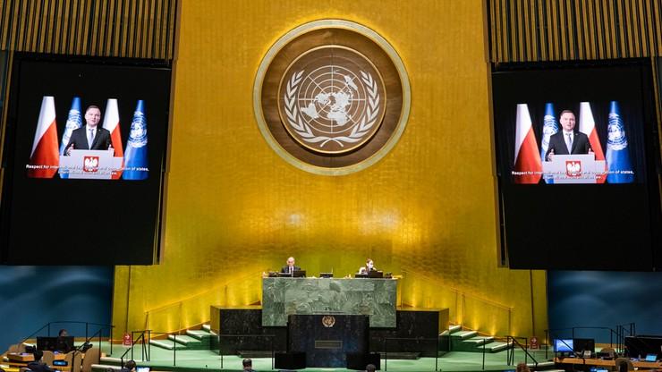 Debata w ONZ. Apel prezydenta Dudy