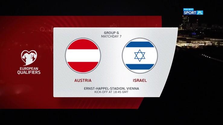 Austria - Izrael 3:1. Skrót meczu