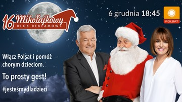 Mikołajkowy Blok Reklamowy. Włącz Polsat i pomóż chorym dzieciom!