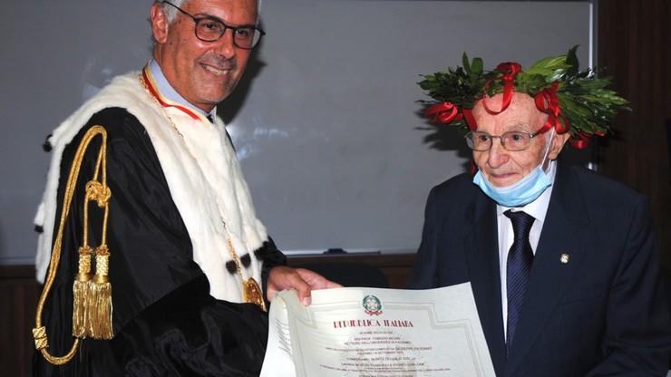 96-latek został najstarszym absolwentem uniwersytetu we Włoszech