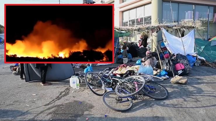 Grecja: pożar obok obozu dla uchodźców. Zatrzymano podejrzanych o podpalenie