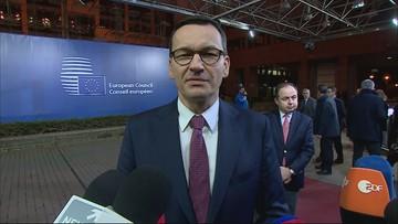 2020-02-21 Premier po szczycie UE: w Brukseli trochę półżartem mówi się, że jest grupa skąpców