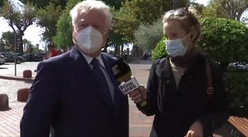 Burmistrz okradziony podczas wywiadu na żywo