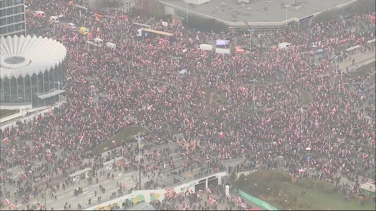 Marsz Niepodległości 2019. Ratusz: 47 tys. osób vs. organizatorzy: 150 tys.