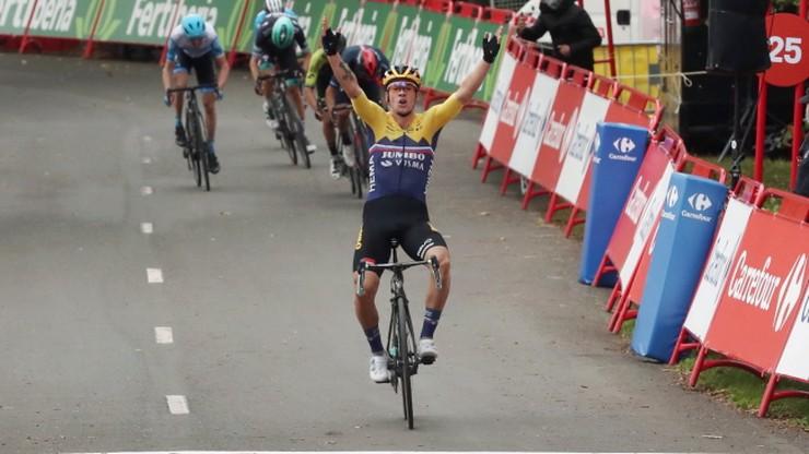 Vuelta a Espana: Primoz Roglic wygrał pierwszy etap. Polacy daleko