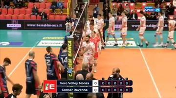 SuperLega: Vero Volley Monza - Consar Ravenna 3:1. Skrót meczu