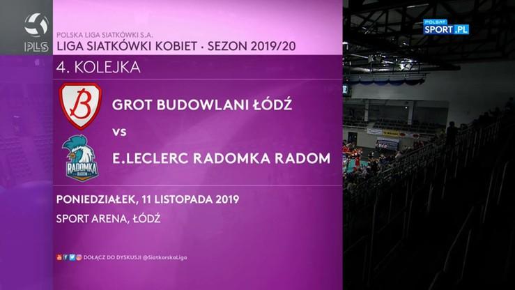 Grot Budowlani Łódź - E.Leclerc Radomka Radom 3:2. Skrót meczu