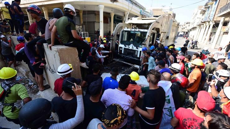 Starcia demonstrantów z policją w Iraku. Zginęło co najmniej 10 osób