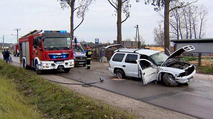 Samochód wjechał w przystanek autobusowy w Kielcach. Są ranni