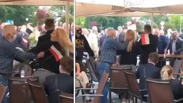 Szamotanina w kuluarach. Incydent podczas wiecu prezydenta w Wieluniu.