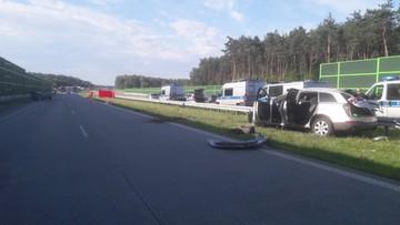 Śmiertelny wypadek na autostradzie A1. Policja szuka sprawców