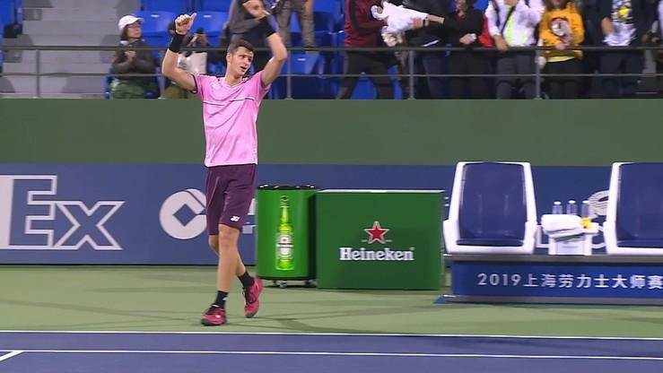 ATP w Szanghaju: Hurkacz wyeliminował Monfilsa!