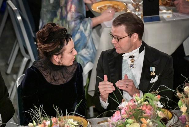 Olga Tokarczuk z księciem Danielem