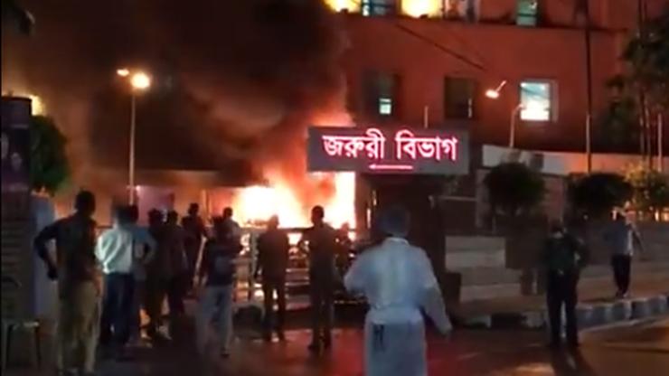 Pożar szpitala. Zginęli pacjenci zakażeni koronawirusem