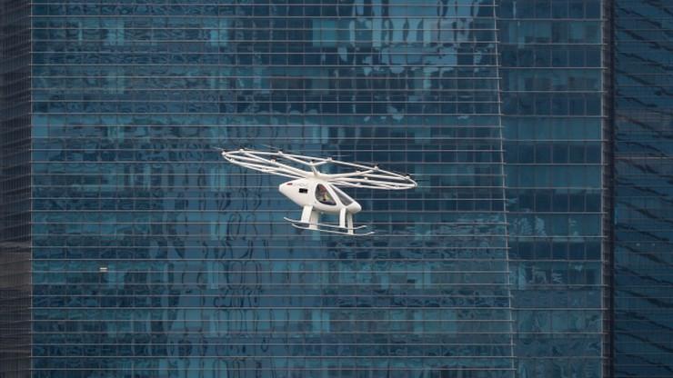 Próbny lot podniebnej taksówki w Singapurze