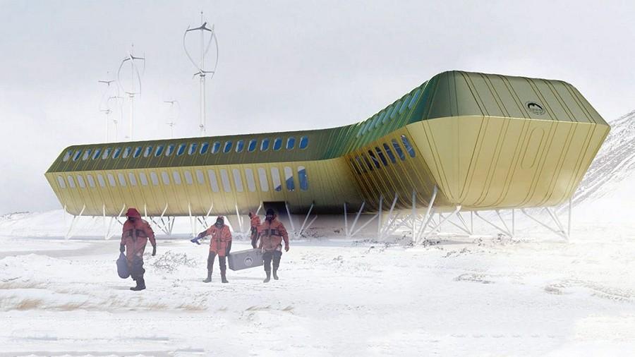 Tak będzie wyglądać nowy budynek Stacji im. Arctowskiego. Fot. Kuryłowicz & Associates / apaka.com.pl