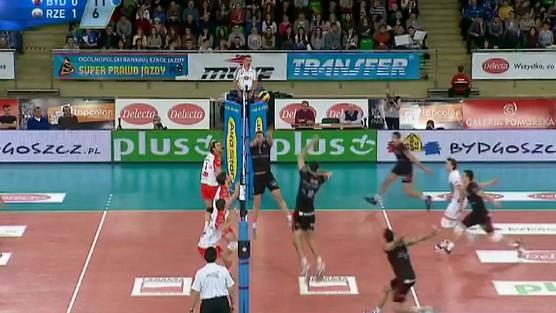 Delecta Bydgoszcz - Asseco Resovia Rzeszów skrót set 2, PlusLiga