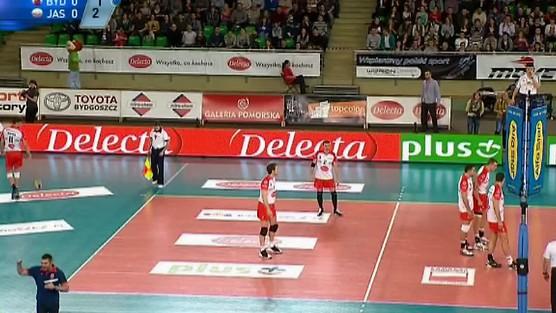 Delecta Bydgoszcz - Jastrzębski Węgiel skrót set 1, PlusLiga