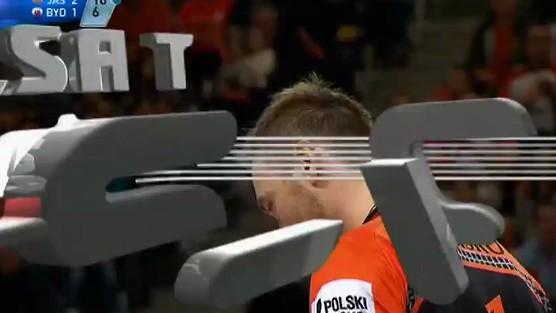 Jastrzębski Węgiel - Delecta Bydgoszcz skrót set 4, PlusLiga