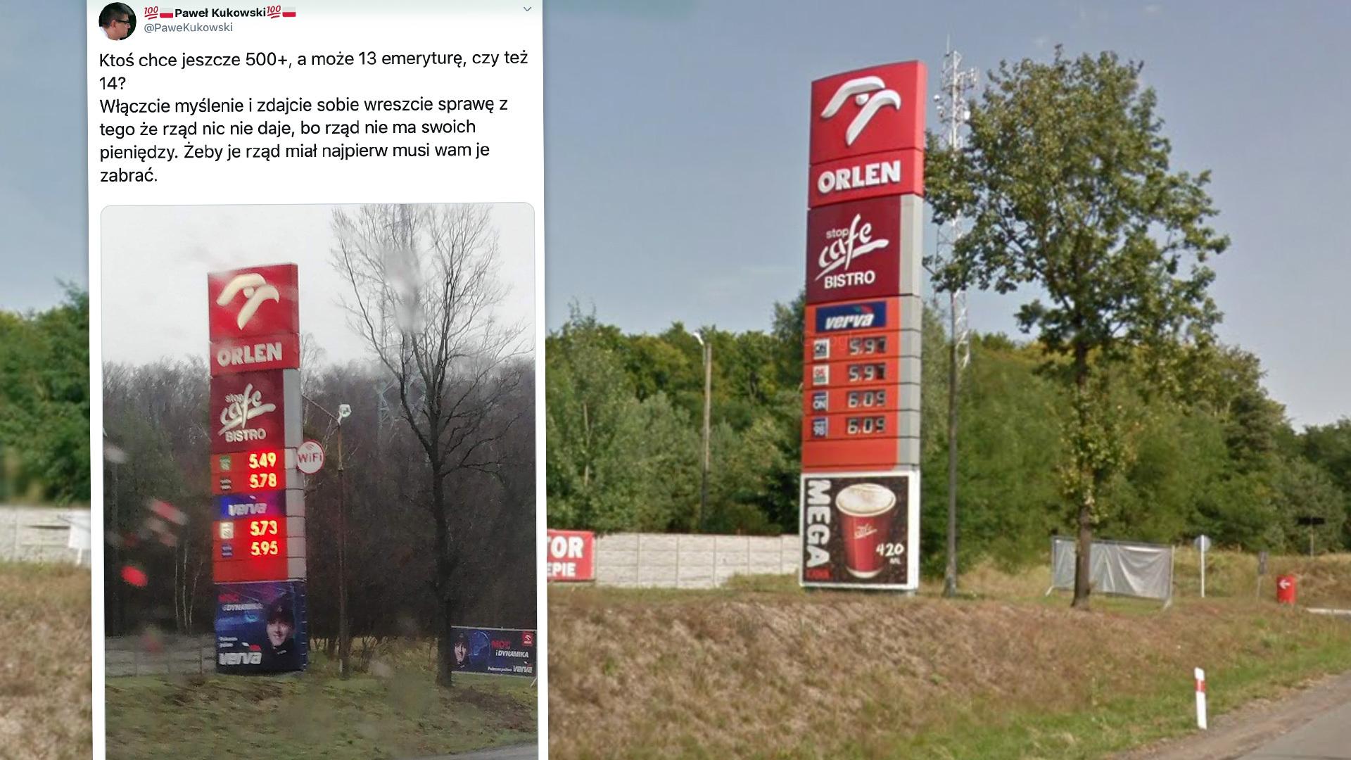 Porównaliśmy zdjęcie z Twittera ze zdjęciem w Google Street View