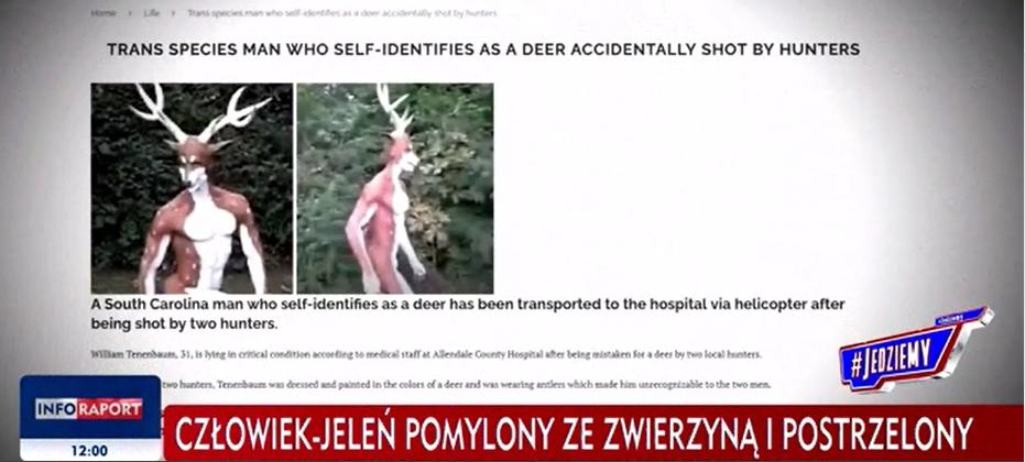 """Kadr z programu """"#Jedziemydalej"""" w TVP Info"""