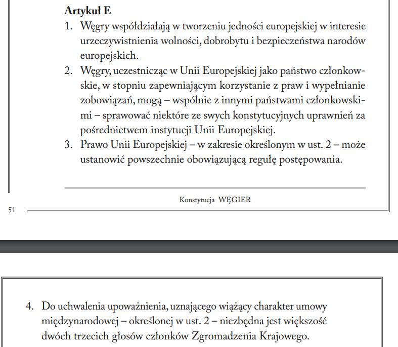 Fundamenty, konstytucja węgierska