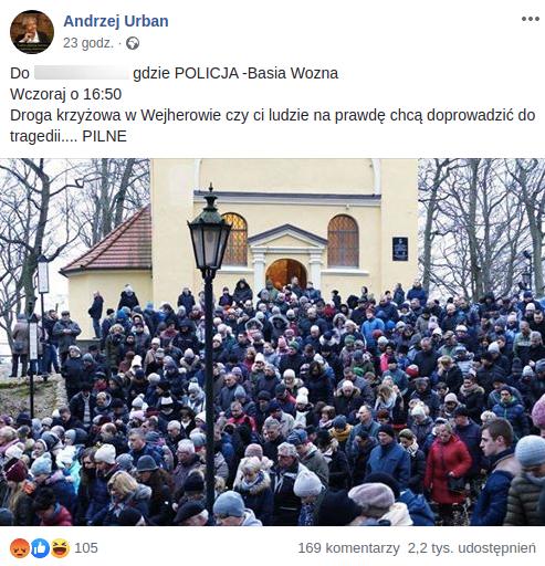 Fake news o drodze krzyżowej na wzgórzach Kalwarii Wejherowskiej szybko się rozchodził