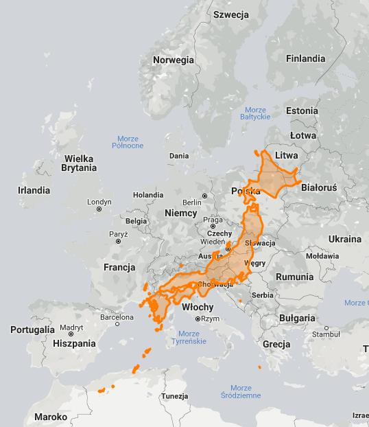 Porównanie powierzchni Europy i Japonii