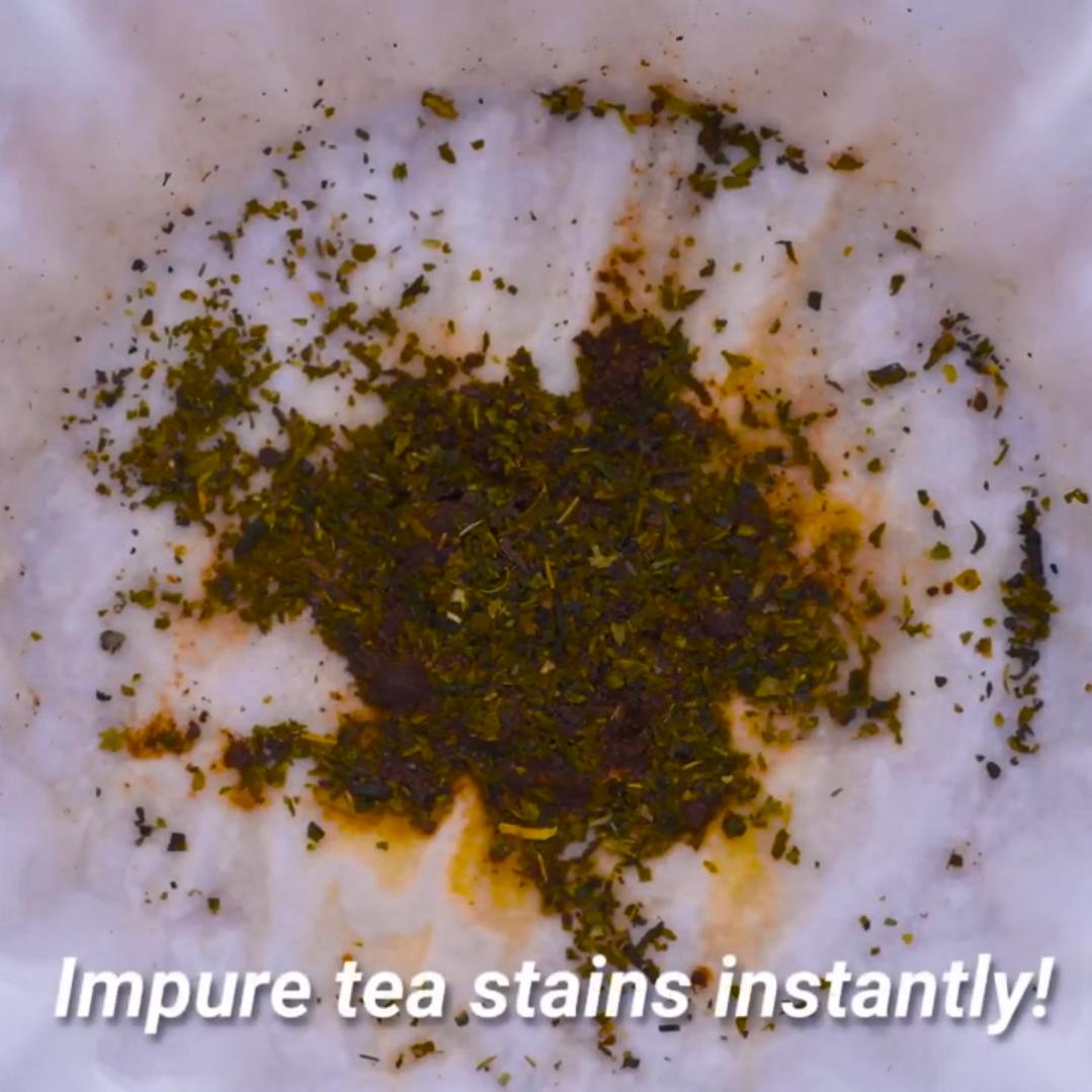 """""""Zanieczyszczona herbata plami natychmiastowo!"""""""