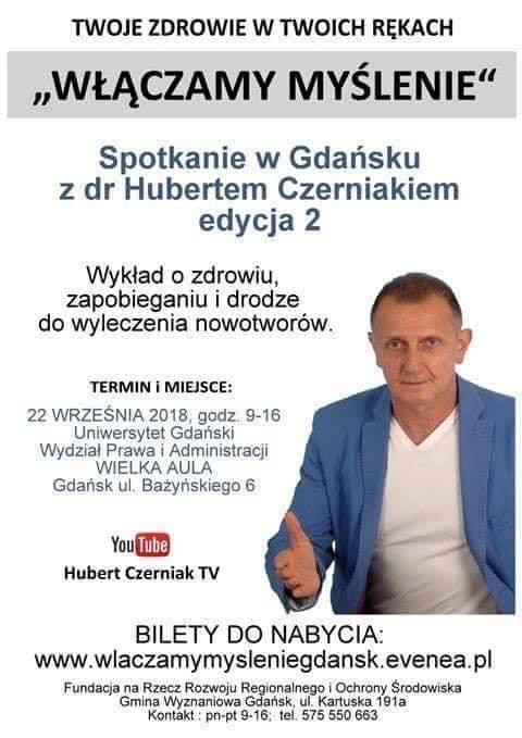Plakat spotkania z Hubertem Czerniakiem na UG