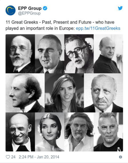 """Eleni Antoniadou jako jedna z """"11 Greków, którzy odegrali ważną rolę w Europie"""""""
