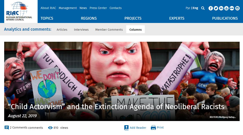 Artykuł na stronie Russian International Affairs Council